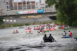 夏_ゴムボート川下り2